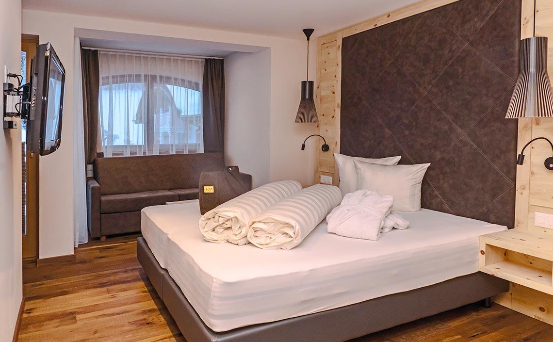 Arvenholz Zimmer für 2 Personen ©Falkner